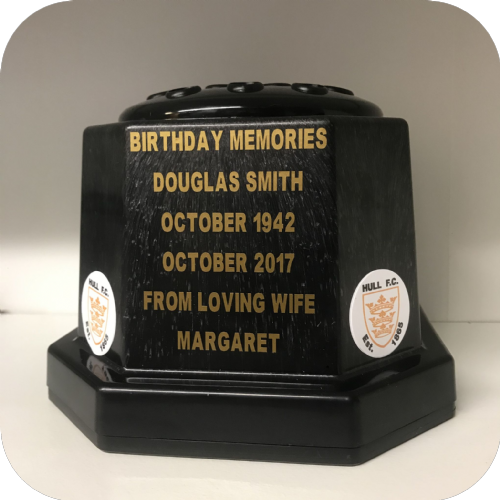 Hull F.C. Rugby personalised grave pot